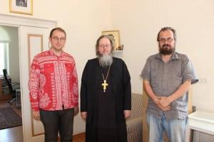 А.И. Мраморнов, архим. Роман (Красовский) и Олег Протопович
